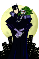 Joker and Batman by greensky222
