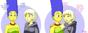 Simpsons - Marge and Gaga by Kibate