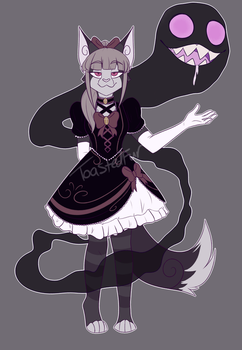 Gothic Ghost Cat Adopt - Closed! by ToastedFur