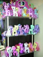 Shelf update My Little Pony G4 Collection by Amyatpebble