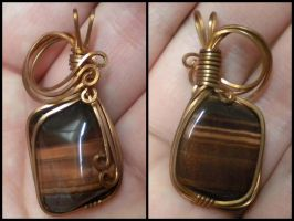 Copper Wrapped Red Tiger's Eye by Zorias