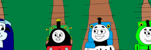 Tillie Meeting Thomas, Percy and Emily by MikeEddyAdmirer89