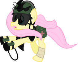 Battlefriend 3: Fluttershy Medic by Zvn