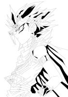 Yu-Gi-Oh! Duel Monsters- Pharaoh Atemu Lineart by Over-The-Black-Nexus