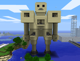 Minecraft Golem War Machine by myvideogameworld