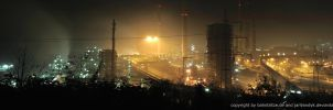 Duisburg Industrial Panorama by Night by janvandyk