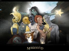 Morrowind: Family Portrait by Ti-R