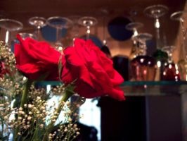 Roses And Stemware by Avalonshroud