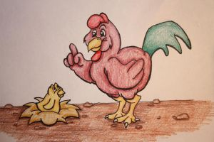 Rooster and Chick by Aluciel286