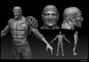 zbrush guy wip by PabelBilly