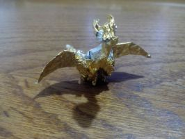 Gold Dragon Origami (Ferrero Rocher candywrapp) by DarkUmah