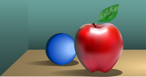 Apple and Sphere by Nosh59