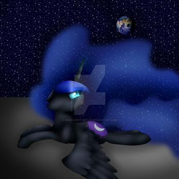 Trapped on the  Moon by MoonlightSketch