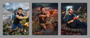 Apocalypse, QC Triptych by themadbutcher