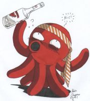 Phillip the Drunken Octopus by otakuguy