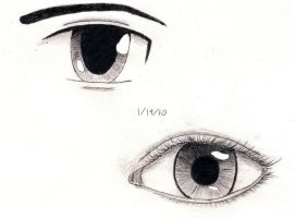 Two Styles of Eyes by NaomiHansen