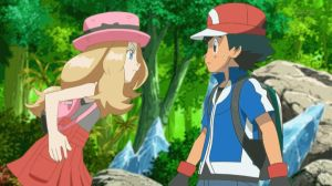 AmourShipping  Ash looked confused  at Serena for  by Darkramiess