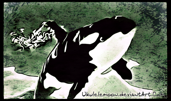 Digital Painting: Orca under the Water by UkuleleMoon