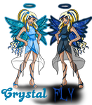 Crystal Fly - Raf and Dark Raf by Eleanor-Devil