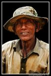 Old Cambodian man by zaffonato