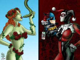 Ivy and Harley:Scene Stealers by wrathofkhan