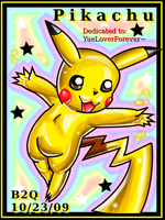 A sweet Pikachu gift by Bowser2Queen