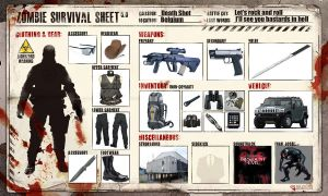 My Zombie Surival sheet by WilliamLionheart