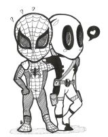 Spidey and D.Pooly by LilysFactory