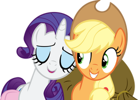 Request from dcencia Rarity and Applejack by Spyro4287