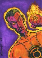 Sinestro Sketch Card by HalHefnerART