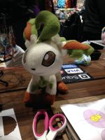 Pokemon - Leafeon custom plush by Kitamon