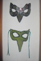 Reused matherials masks done by my pupils by Miss-Gato