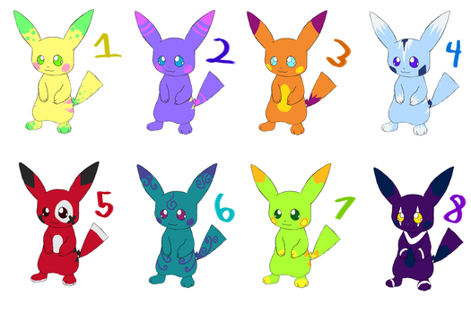 Pikachu Adotpables 4 CLOSED by Rikas-Adoptables