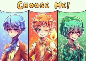 If Pokemon Starters Used a Human Stone LOL by OtakuPup