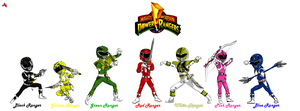 Go Go Power Rangers by DK-DarkKitty