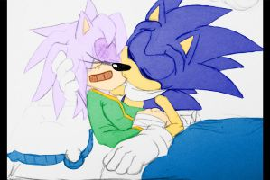 Liz's Injuries. Sonic's Secret Kiss. by Liz-Hearts