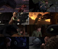 Hiccup and toothless shots by deviant5898