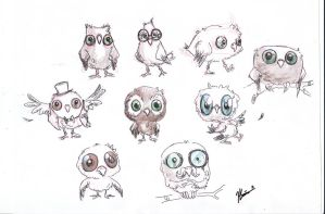 Owls by VODKABABY