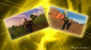 Role Reverse: Garrosh and Thrall by MewMewFrostElf