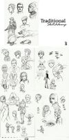 TraditionalSketchDump03. by mkw-no-ossan