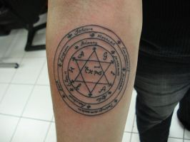 Pentacle of Solomon Tattoo by JdeeChan