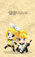 Vocaloid: Rin and Len by linlilian