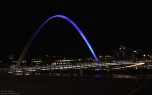 Millennium Bridge at Night by Gatesigirl