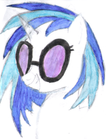 vinyl scratch first aqua-color by DJGoldNF
