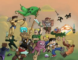 Battle in Minecraft by MatiZ1994