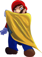 Mario 128 Collab: Cape Mario by batwing321