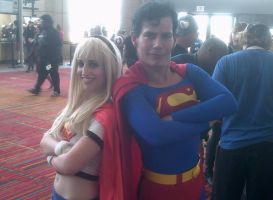 Super man and Super girl by BrinyCosplay