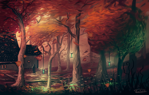 Magic Autumn Forest by Frostwindz