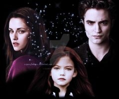 Renesmee, Bella and Edward by oXGeRRyBeRRyXo