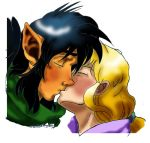 An Innocent Kiss:Color by GlyphBellchime
